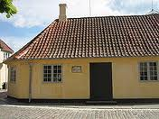 Hans Christian Andersen`s childhood home in Odense, Denmark