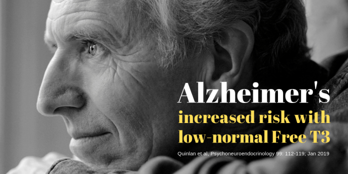 Low T3 and alzheimer