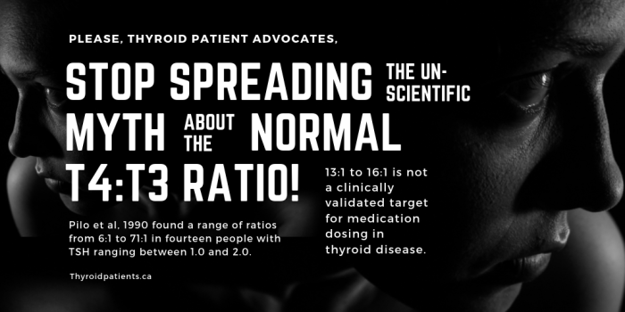Stop spreading the unscientific myth about the normal T3_T4 ratio!
