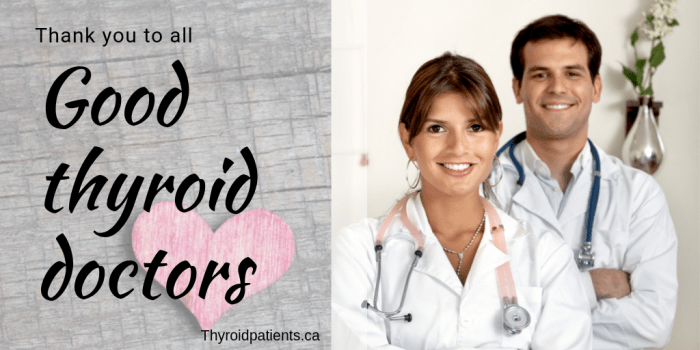 Thank you to all good thyroid doctors