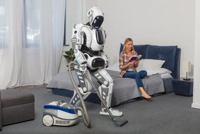 掃除するロボット