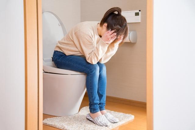 トイレで悩む主婦