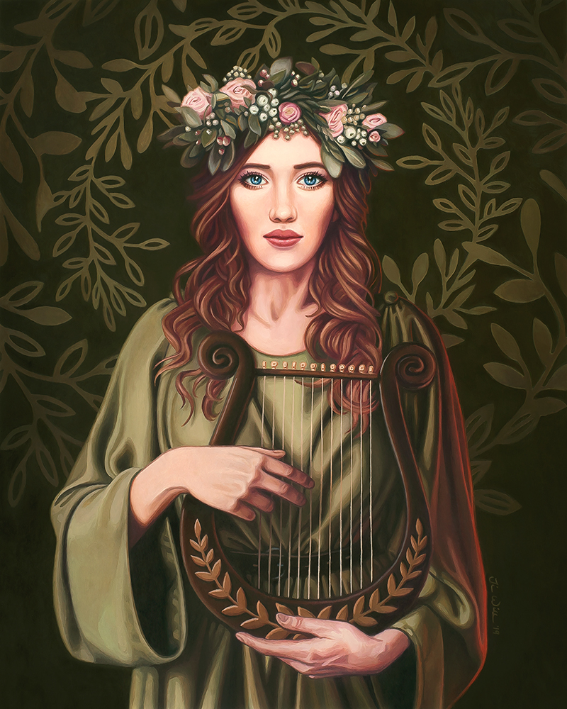 Cecilia's Song, <em>Oil on wood</em>