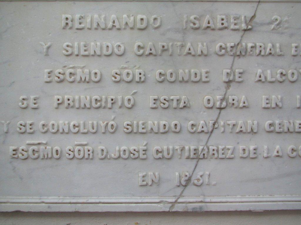 Placa do Casarão datada de 1831