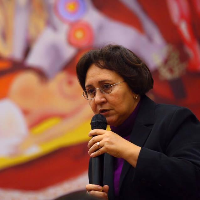 Professora Maria de Fátima Sousa, idealizadora do projeto FS dos Sonhos, pelo qual foi realizado o painel Forças da Saúde