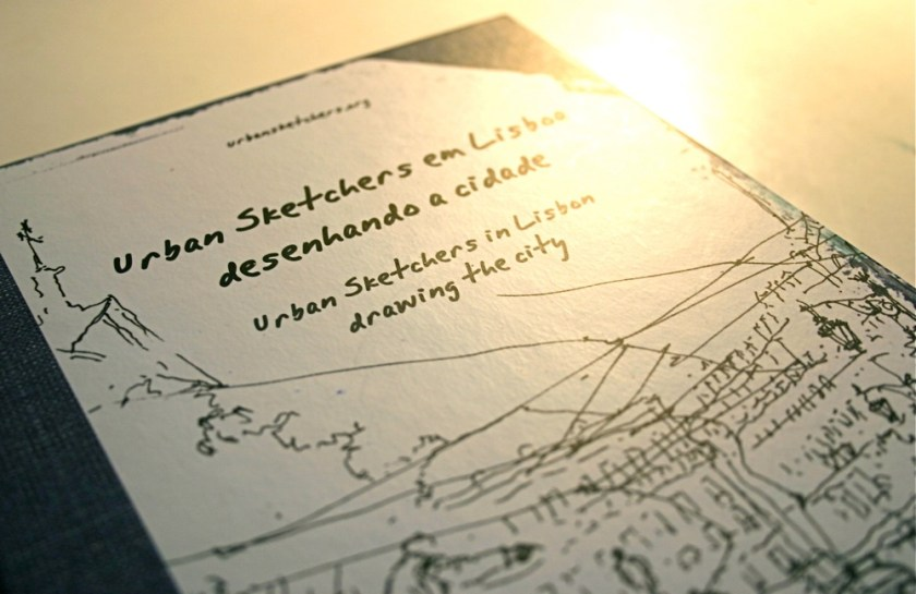 Capa do livro Urban Sketchers em Lisboa