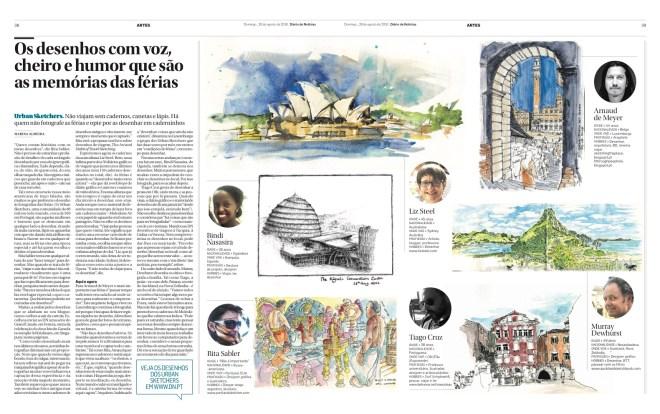 ferias desenhadas, Diário de Noticias
