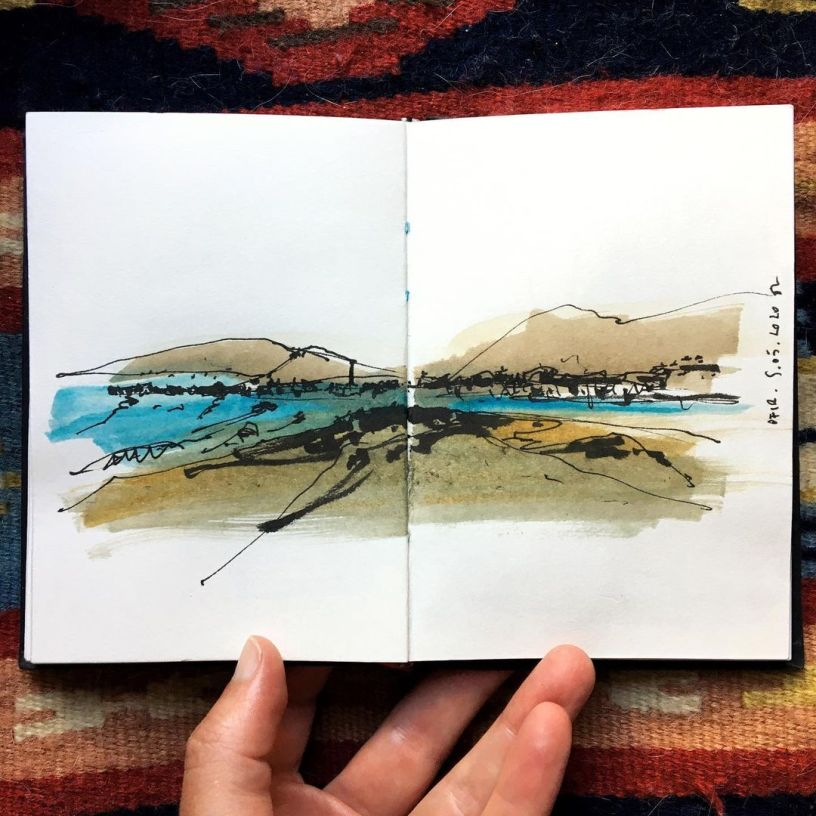 drawing in Ofir, Portugal