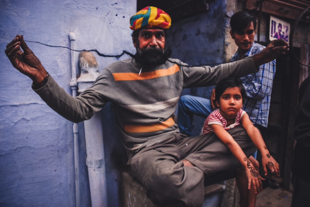 bikaner man with long whiskers