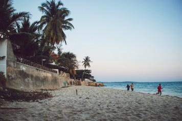 beach in stone town