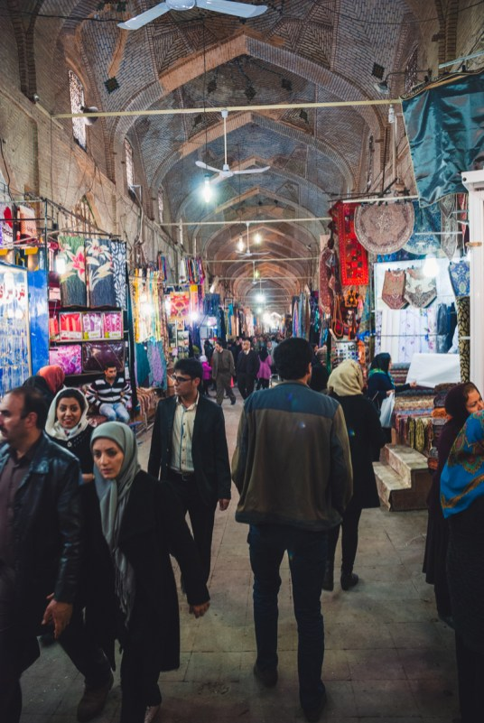 bazaar in shiraz