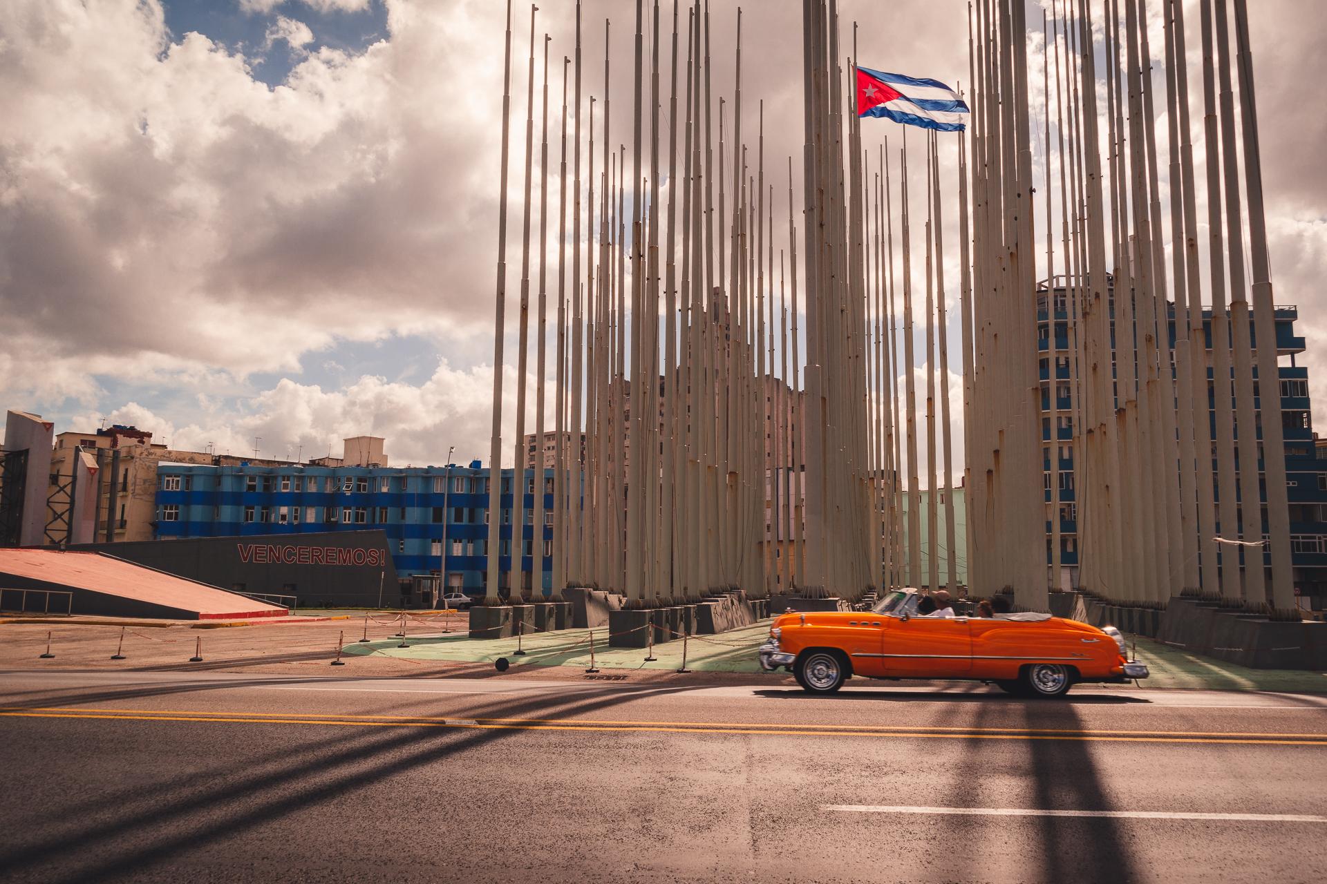Vintage car in La Havana Cuba