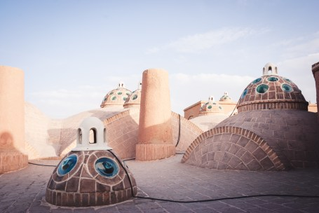 Domes of the hammam in Kashan