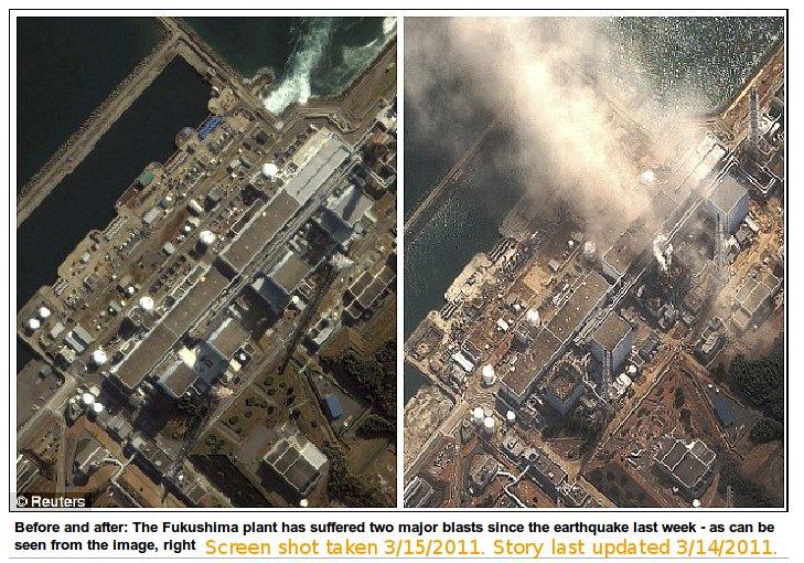 Before and After: Fukushima Plant