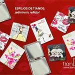 """90172 Espejo """"Flores"""", tianDe, ramo Eterno, 1 artículo"""