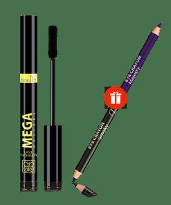 "Спирала ""Mega Lash-Extension"" + подарък Двустранен молив за очи"