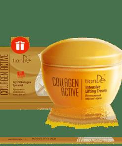 """Интензивен лифтинг крем+Кристална колагенова маска за клепачи """"Collagen Active"""""""