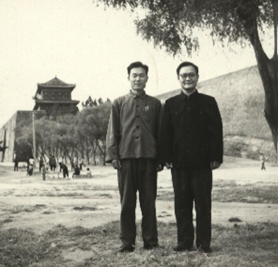 Photogravie de Liu Guizhen avec Zhang Tiange
