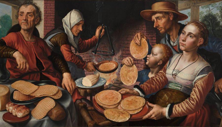 La boulangerie à crêpes, 1560, huile sur panneau de bois de Pieter Aertsen (1508 –1575)