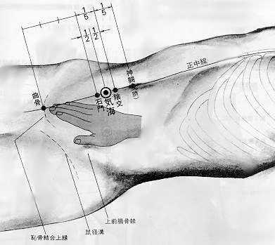 Mer du qi, 气海 qì hǎi, est le sixième point du merveilleux vaisseau conception.