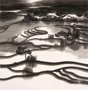 Champs miroir, encre sur papier, Chen Hui, 2015