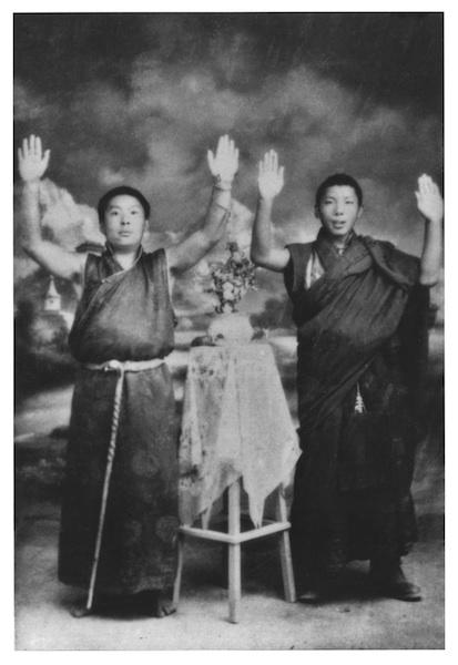 Photographie de Khenpo Gangshar et de Chögyam Trungpa