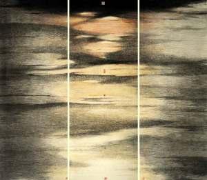 Résidence d'eau claire, encre et couleur sur papier, 2012, Wong Hau Kwei