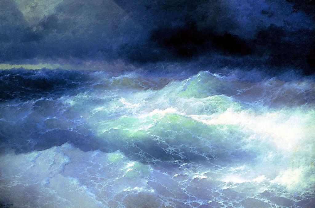 Parmi les vagues, 1898, huile sur toile Ivan Aivazovsky