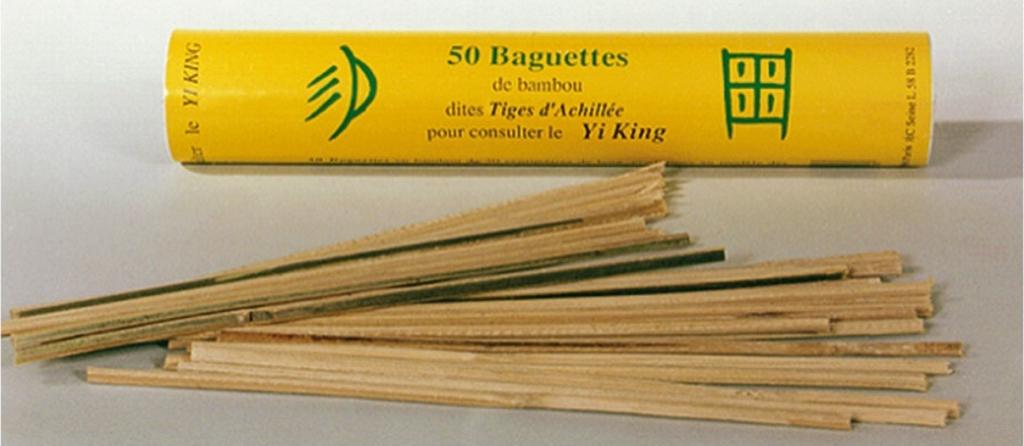 50 baguettes de bambou dites tiges d'achillée pour consulter le yi-king