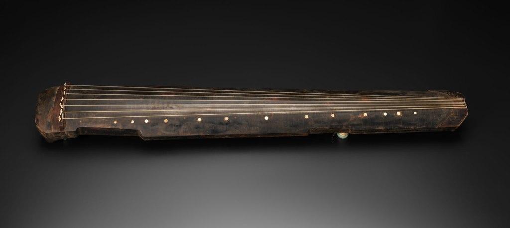 Guqin, bois, soie, jade, laque, nacre, 1634
