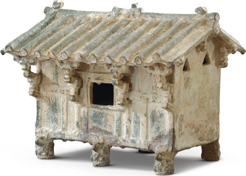 Grenier en faïence, dynastie des Han de l'Est 25-220 AEC