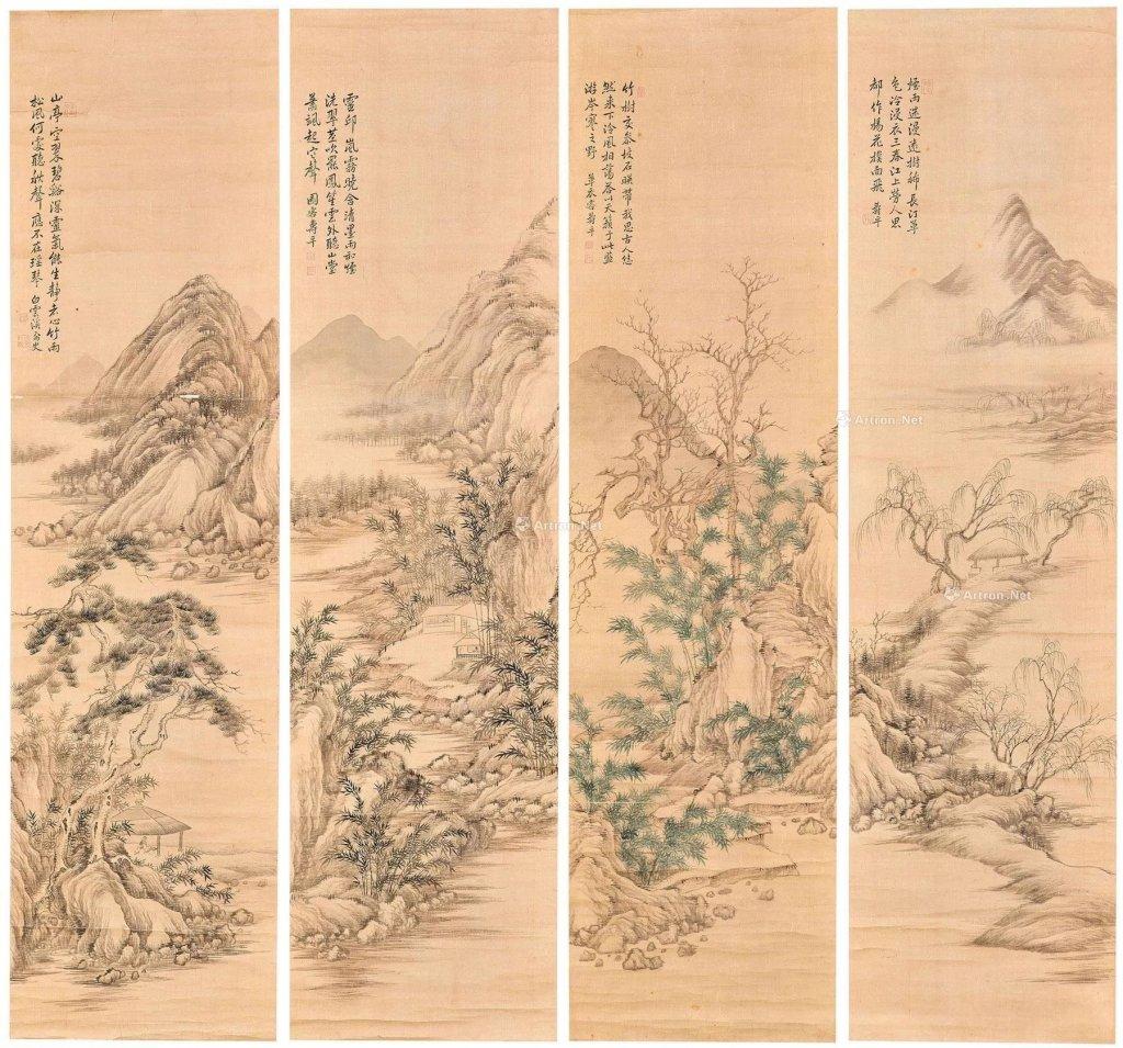 Paysage en quatre saisons, Yun Shouping (1633-1690).