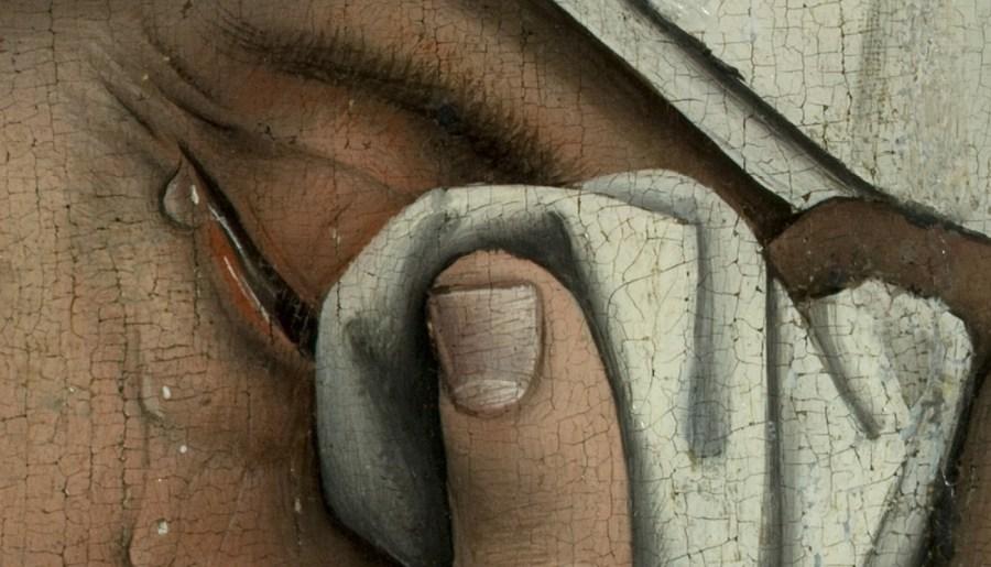 La descente de croix, détail, Rogier van der Weyden