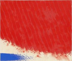 Le jardin éternel, acrylique sur toile, 1993, Siao Chin (蕭勤 Xiāo Qín, 1935-)