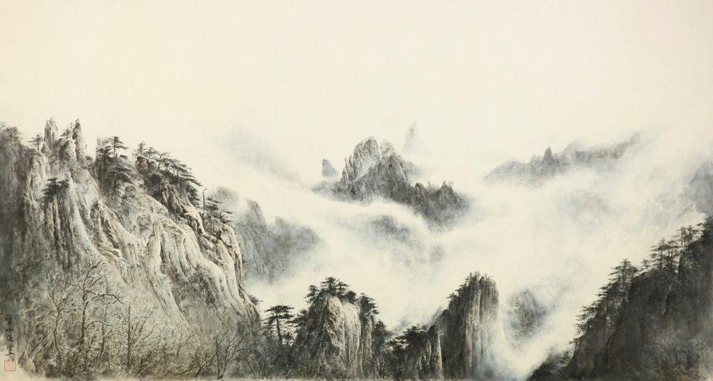 Montagne jaune 2, 2014, Zeng Xiaojun