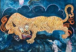 Oeuvre de Chitra Ganesh dans Un opéra pour les animaux