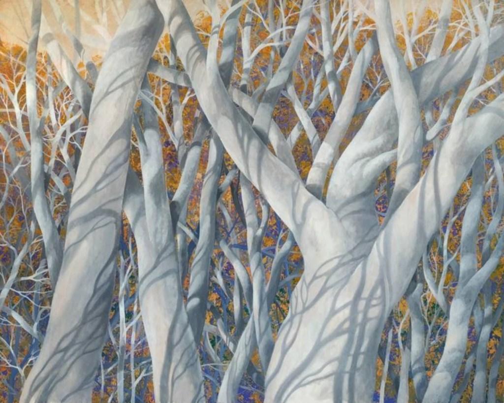 Dans les plus hautes branches, huile sur toile, Olga Kvasha