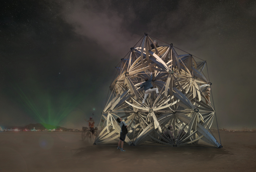 Entwine, soumission d'installation à Burning Man, 2016