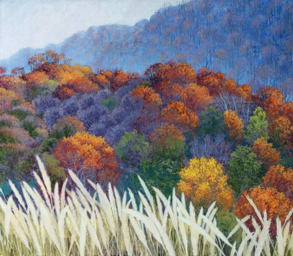Ma féerie, mon bel automne, huile sur toile, Olga Kvasha