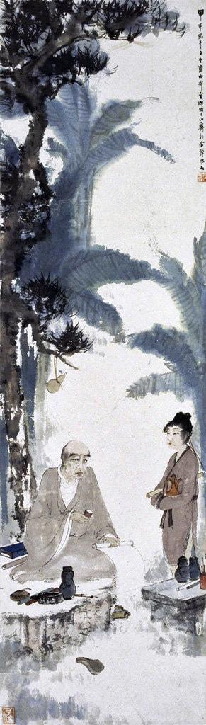 Moine ivre, 1944, Fu Baoshi