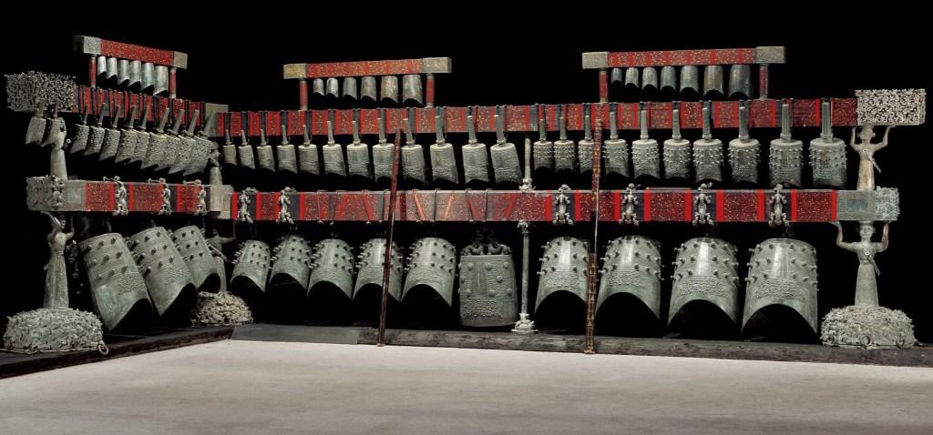 Les carillons de Zeng Hou Yi de la tombe de Leigudun 1, Suizhou, Hubei