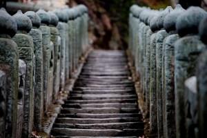 Escalier d'un temple de la montagne Wudang