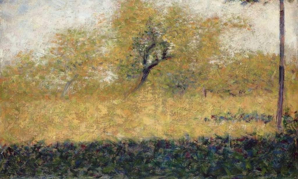 Lisière de bois au printempsde Georges Seurat
