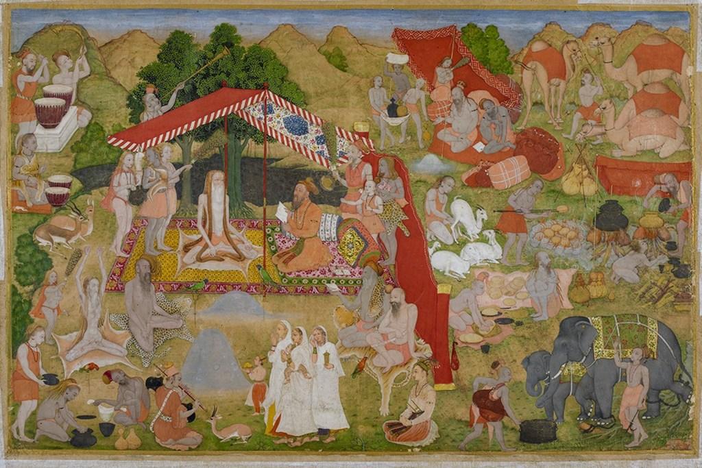Miniature de l'époque moghole, vers 1635, aquarelle et or sur papier