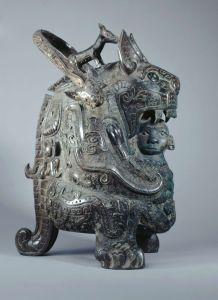 La Tigresse, vase you, bronze
