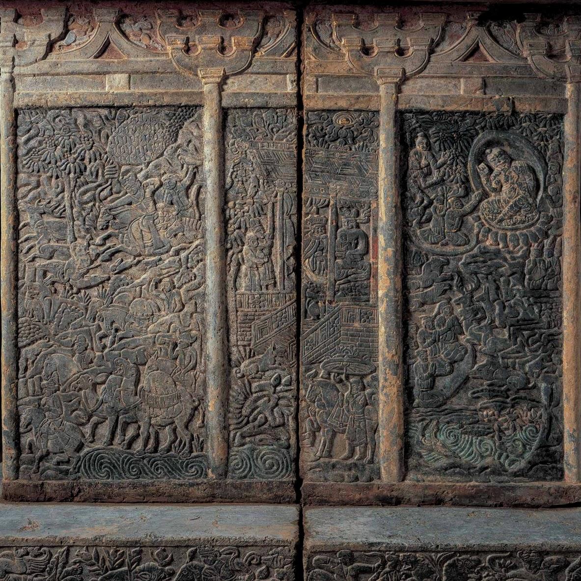 Mur ouest du sarcophage de Shi Jun et Wiyusi