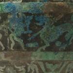 Détail d'un vase hu en bronze, Royaumes combattants