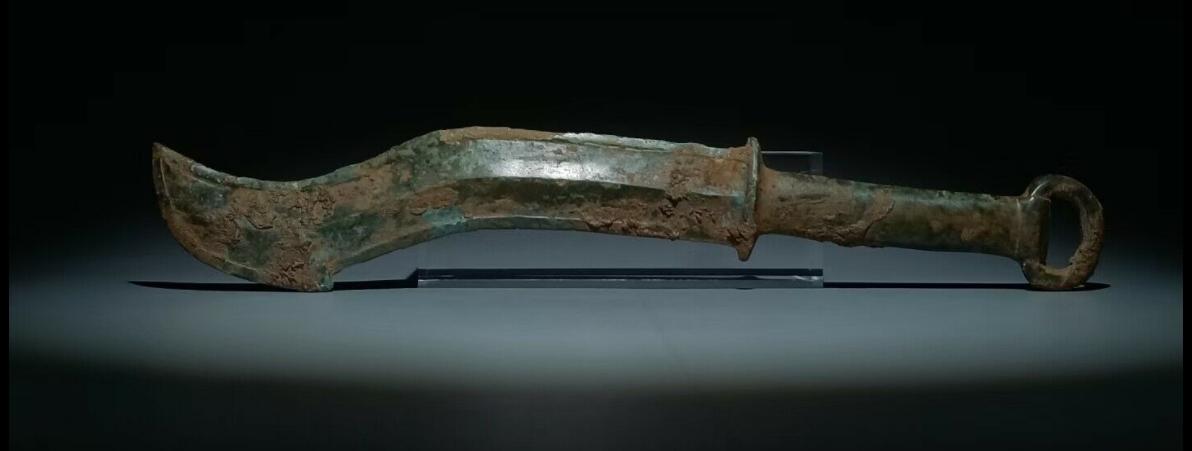 Épée courbée en bronze, période des Royaumes combattants