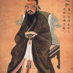 Confucius, gouache on paper, 1770