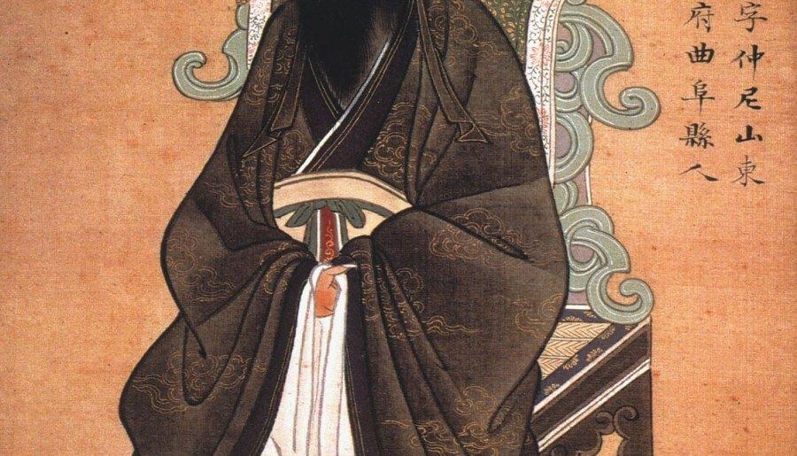 Confucius, gouache on paper, 1770